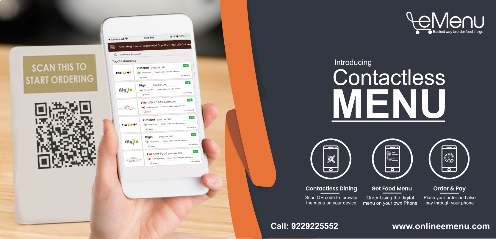Refurnish your restaurant menu with a contactless ordering system